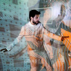 Ain TheMachine Biotronica live show song video audiovisual work music diego ain ATM